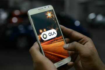 OLA cabs booking using mobile app