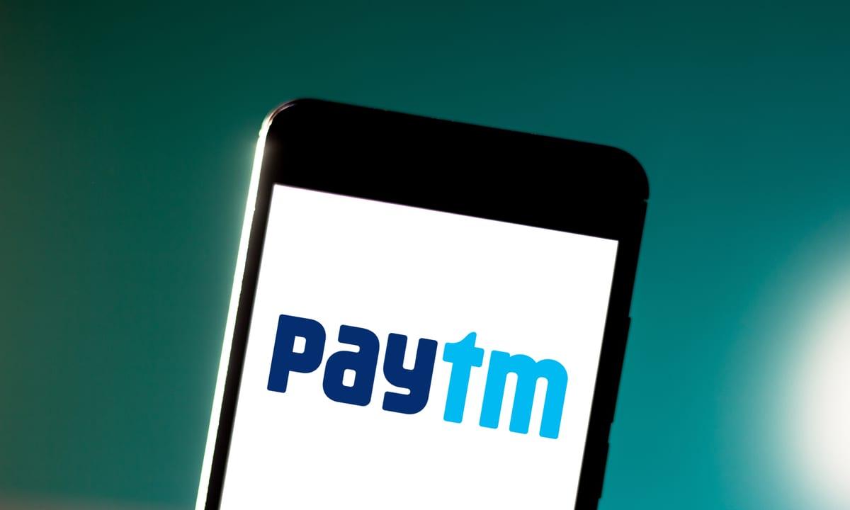 Paytm logo displayed on a Smarthone