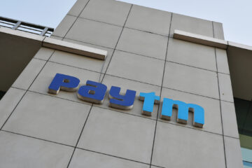 Exterior view of PayTM office in Noida, Uttar Pradesh, on the outskirts of New Delhi, India