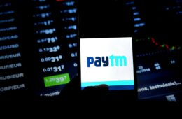 In this photo illustration a popular e commerce application Paytm logo seen being displayed in a smartphone