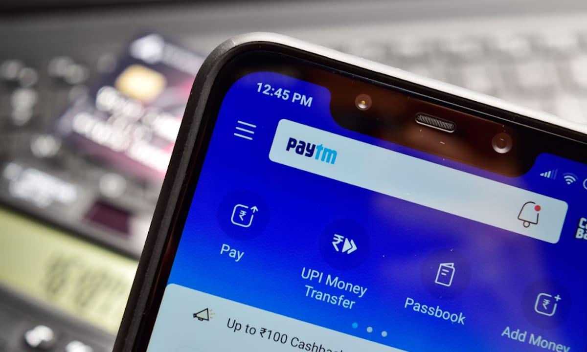 Paytm App opened on Poco F1