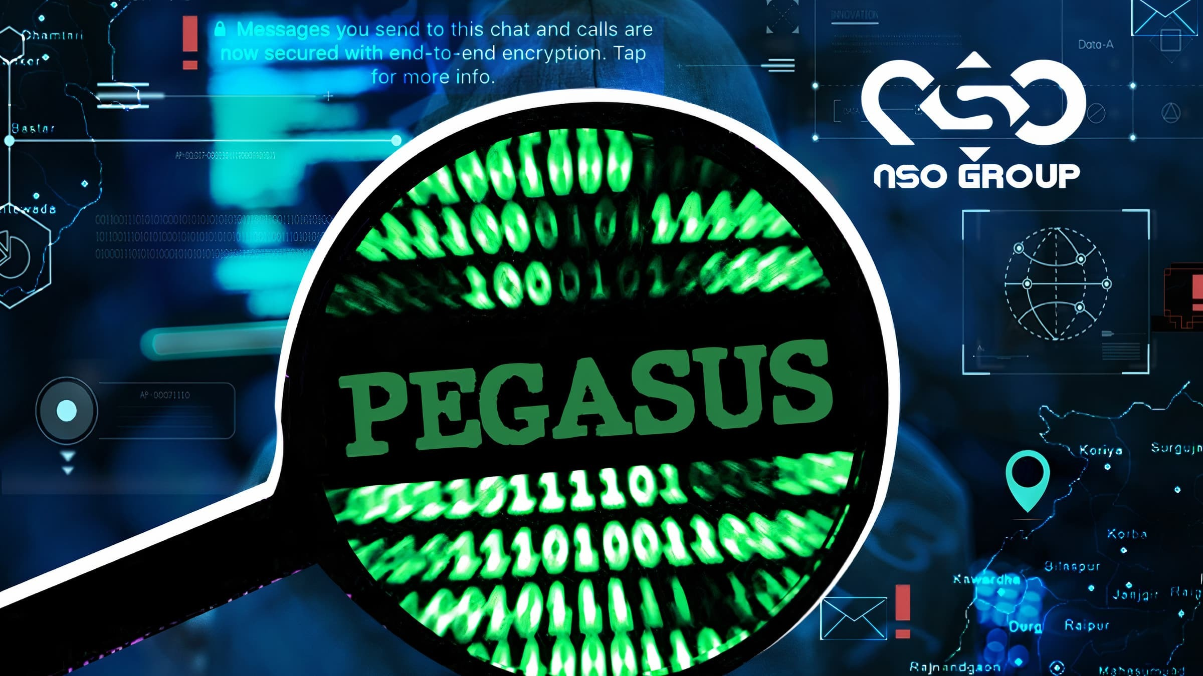 Pegasus Spyware Illustration Image