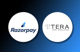Razorpay and Tera Finlabs logo on a gradient background