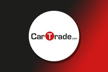CarTrade logo on Gradient Background