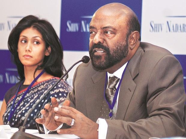 Photo of Shiv Nadar and his daughter Roshni Nadar Malhotra
