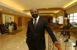 Photo of Shiv Nadar Founder- HCL Technologies Ltd, at his office in Noida, India