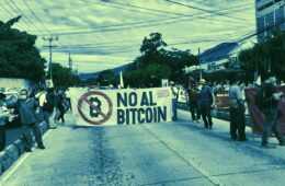 protest against Bitcoin adoption
