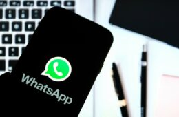 Whatsapp instant messaging app logo seen displayed on a smartphone