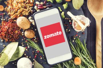 Zomato Logo on smartphone