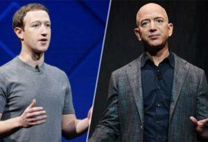Mark Zuckerberg and Jeff Bezos
