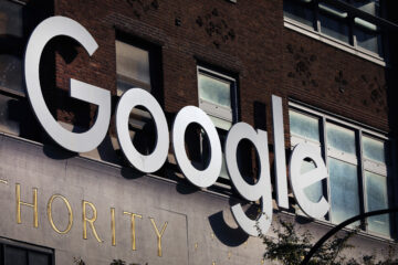 Google's offices stand in downtown Manhattan