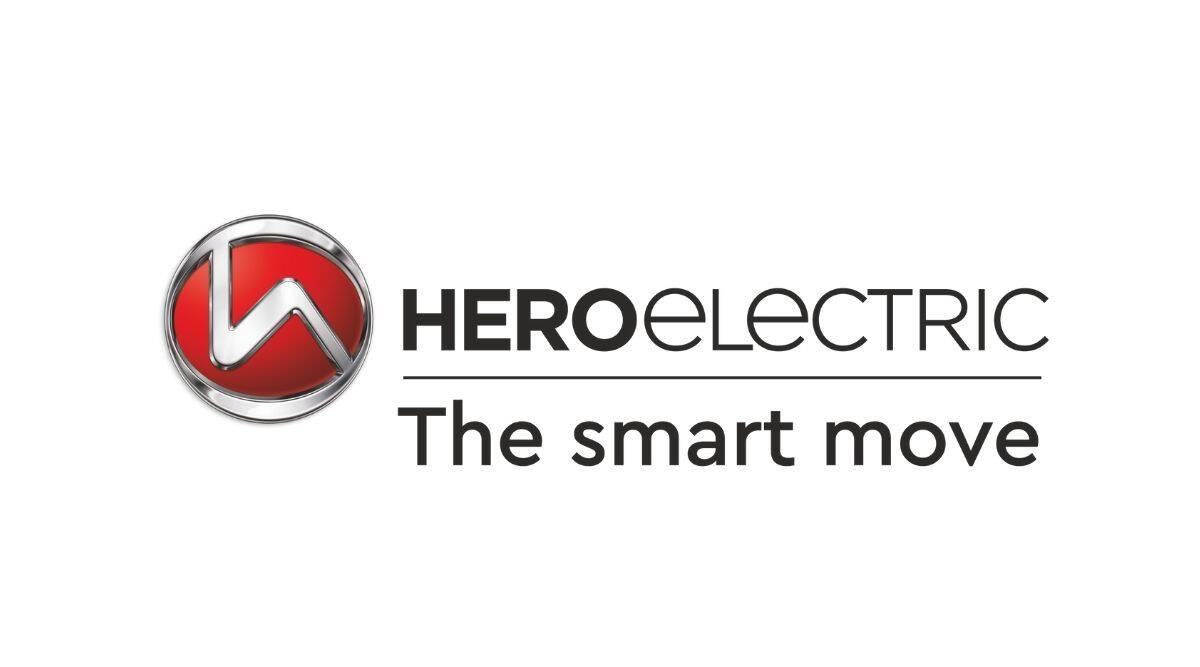 Hero Electric logo with company slogan