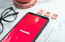 Indian foodtech startup zomato with home delivery of food from top restaurants showing its upcoming IPO for expansion investment and wealth building