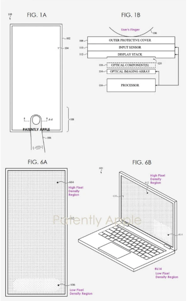 Apple's under-display camera technology official patent