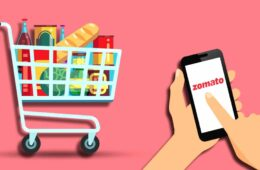 Zomato logo on a smartphone