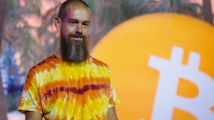 On Friday, June 4, 2021, Jack Dorsey, co-founder and CEO of Twitter Inc. and Square Inc., talks at the Bitcoin 2021 conference in Miami, Florida, United States.