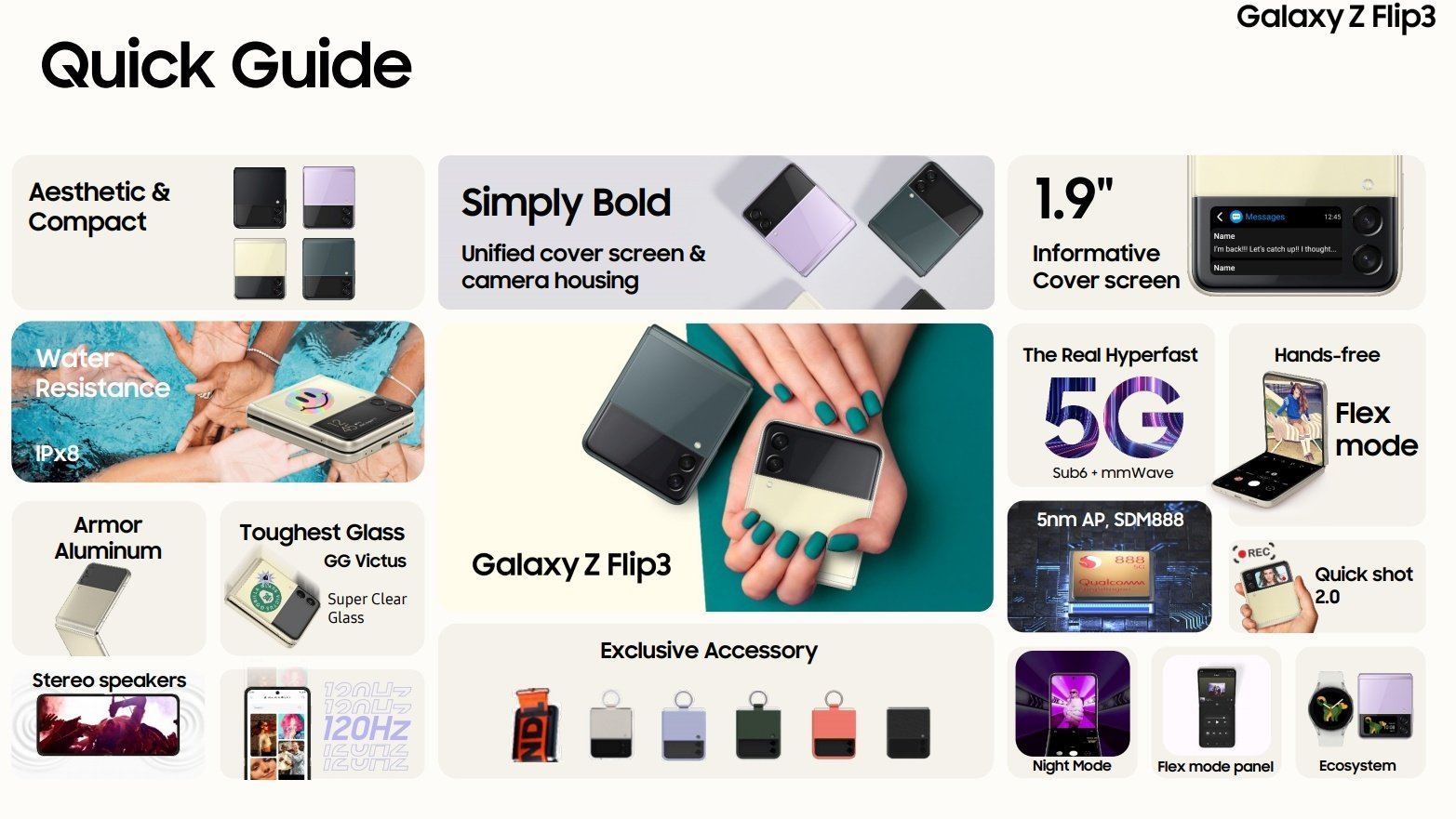 Samsung Galaxy Z Flip 3 - Specification (Rumored)