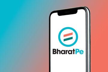 BharatPe logo displayed on iPhone 11