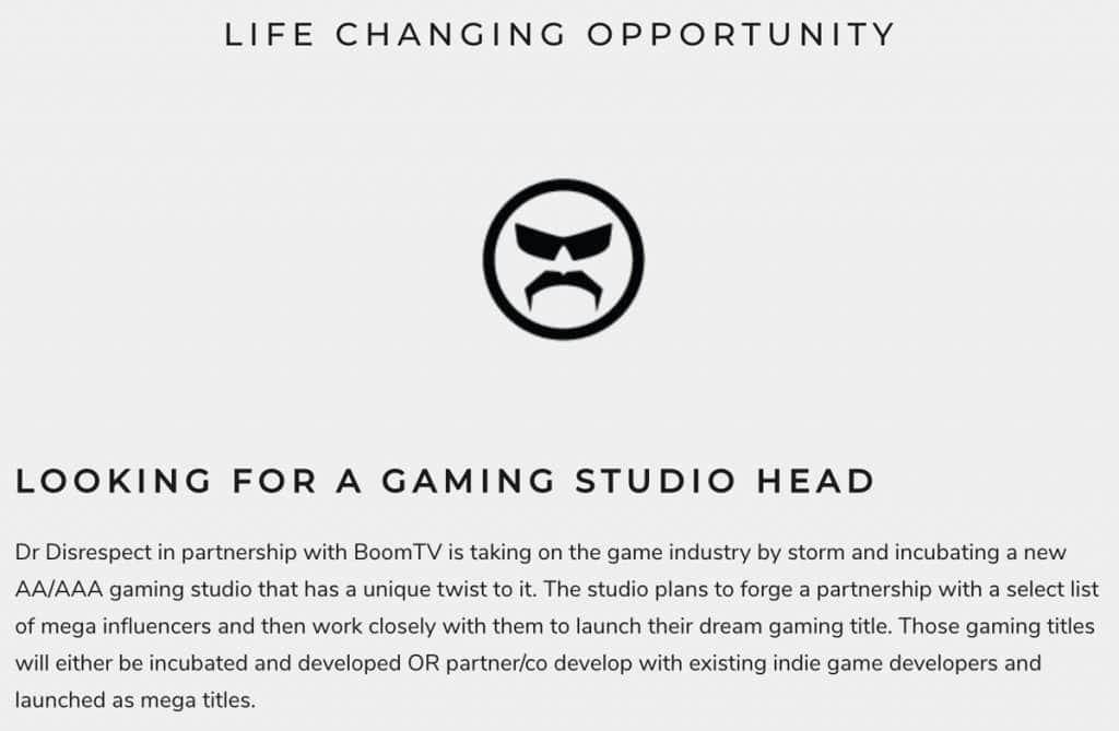 Popular Streamer Dr. Disrespect Is Starting His Very Own Game Development Studio