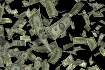 Dollar Flying Concept Business Money Cash