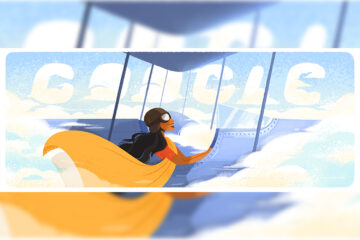 Google Doodle in honor of Sarla Thukral on her 107th Birthday