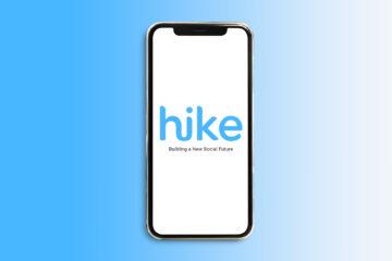Hike logo on a smartphone