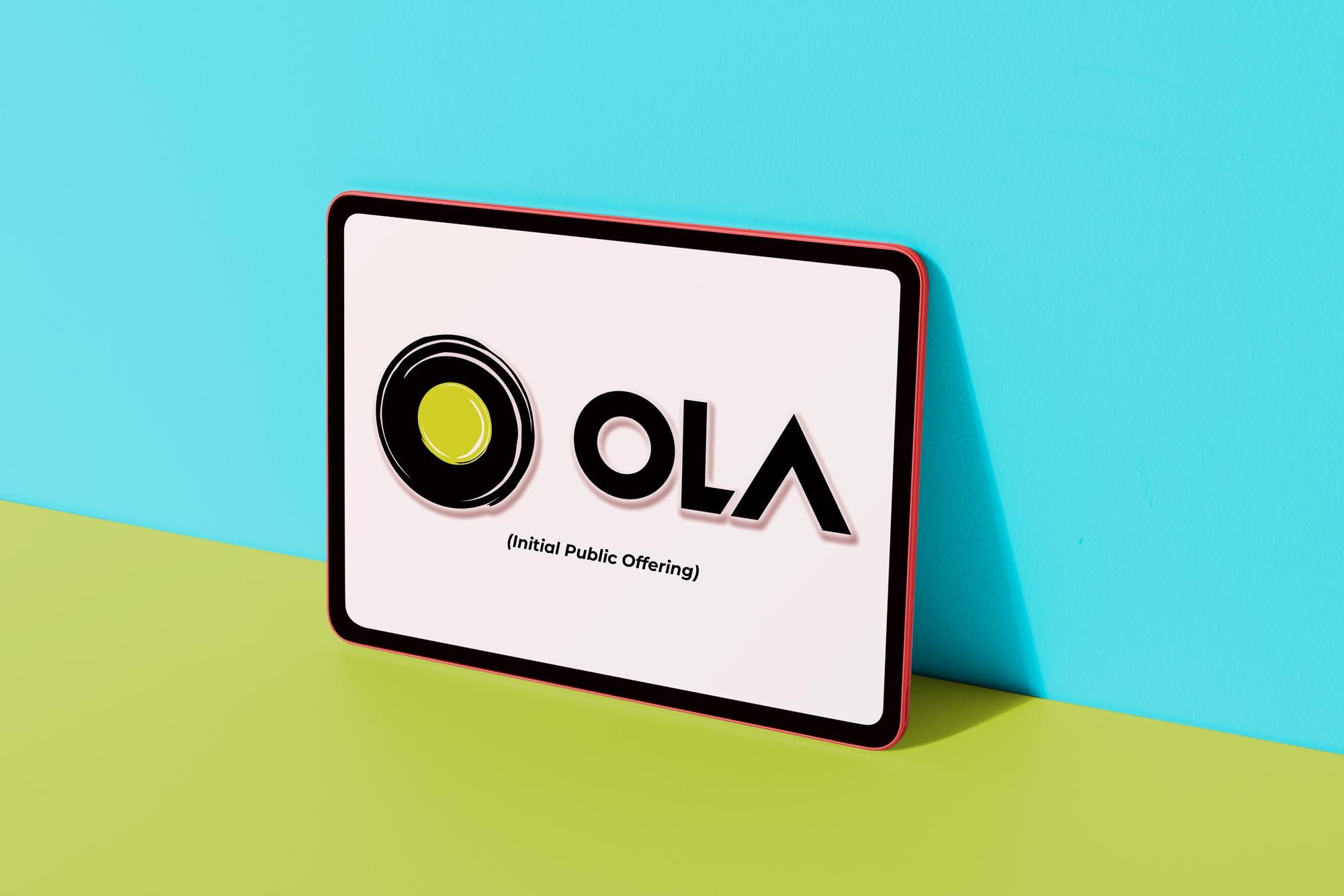 Ola logo Colorful digital tablet
