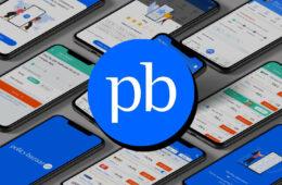 Policybazaar logo on top of Policybazaar Mobile App Stock Image