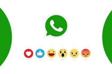 WhatsApp message reactions