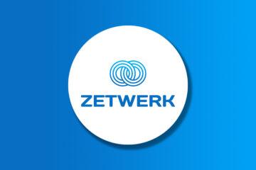 Zetwerk logo on a gradient background