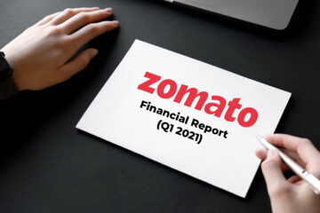 Zomato financial report on Black Table