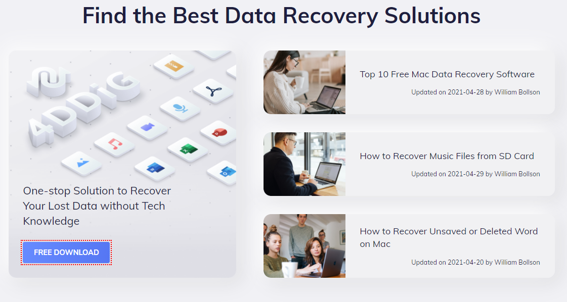 Tenorshare 4DDiG Data Recovery