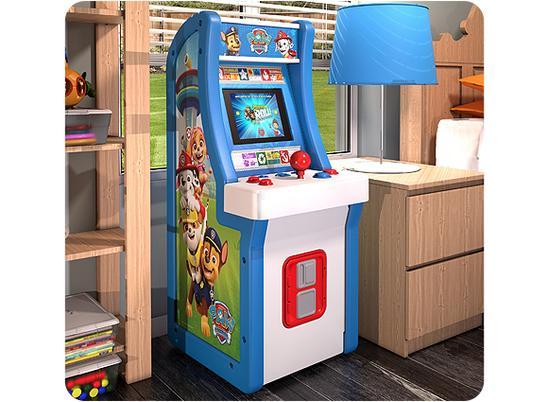 Pac-Man and Paw Patrol arcade machines
