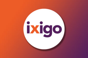 ixigo official logo on a Gradient background