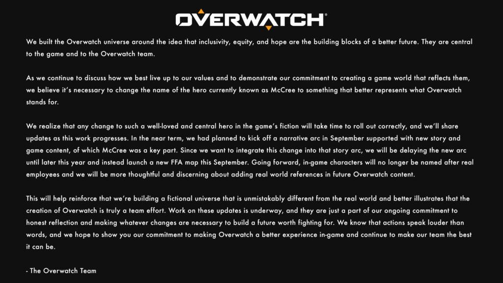 Blizzard Renaming Overwatch's McCree