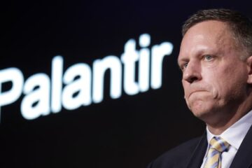 Peter Thiel, co-founder and chairman of Palantir Technologies Inc., pauses during a news conference in Tokyo, Japan, on Monday, Nov. 18, 2019. Kiyoshi Ota | Bloomberg | Getty Images