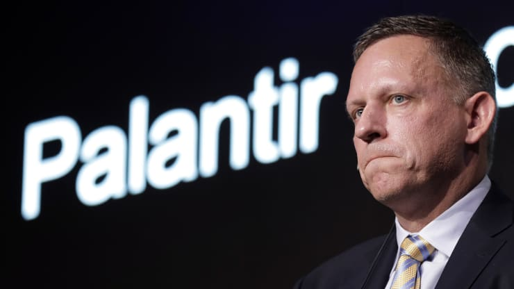 Peter Thiel, co-founder and chairman of Palantir Technologies Inc., pauses during a news conference in Tokyo, Japan, on Monday, Nov. 18, 2019. Kiyoshi Ota   Bloomberg   Getty Images