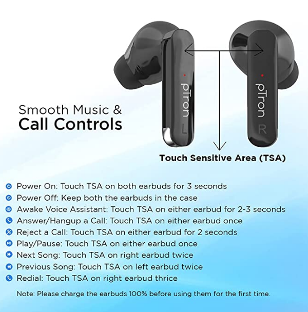 pTron Bassbuds Duo Specifications