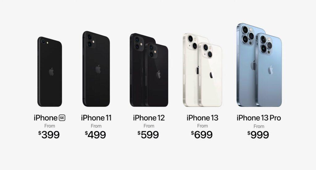 Apple iPhone 13 Series Pricing