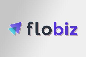 FloBiz logo on Gradient background