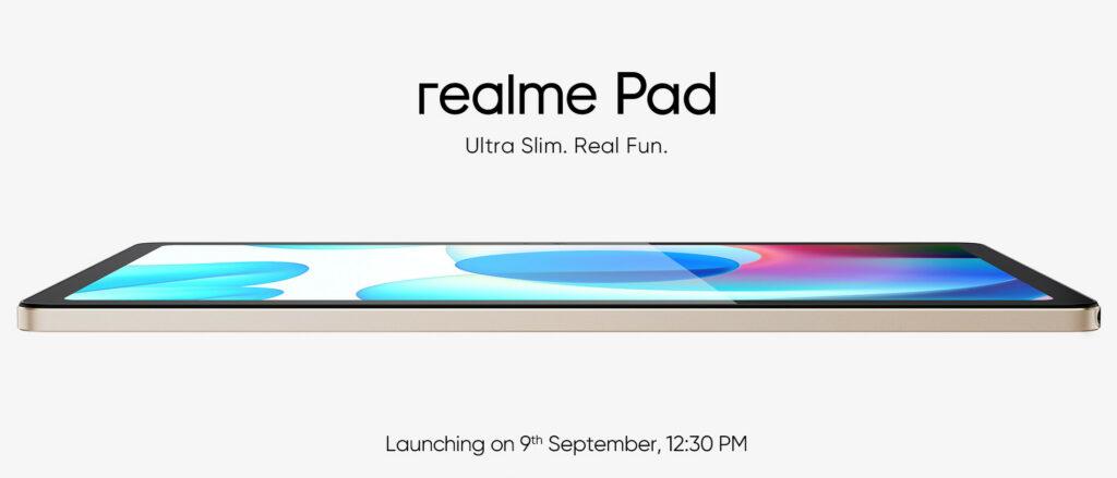 Realme Pad Design Revealed! Showing 10.4inch WUXGA+ Display