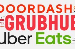 Grubhub, Uber Eats, Doordash