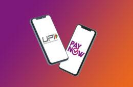 UPI and PayNow logo on Smartphone Mockup