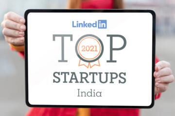 Official banner image LinkedIn Top Startups List displayed on a tablet