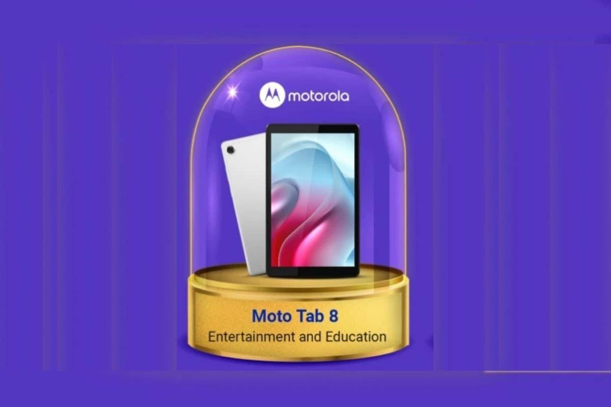 Moto Tab 8 flipkart banner image
