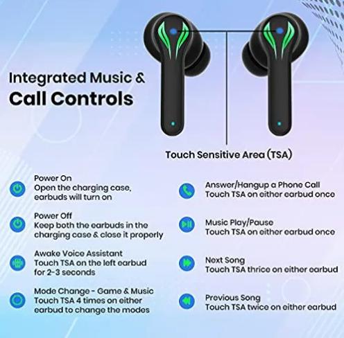 pTron Bassbuds Jade Specifications