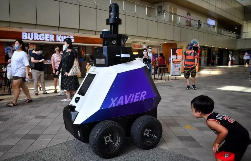 Xavier robot to patrol & detect bad social behavior
