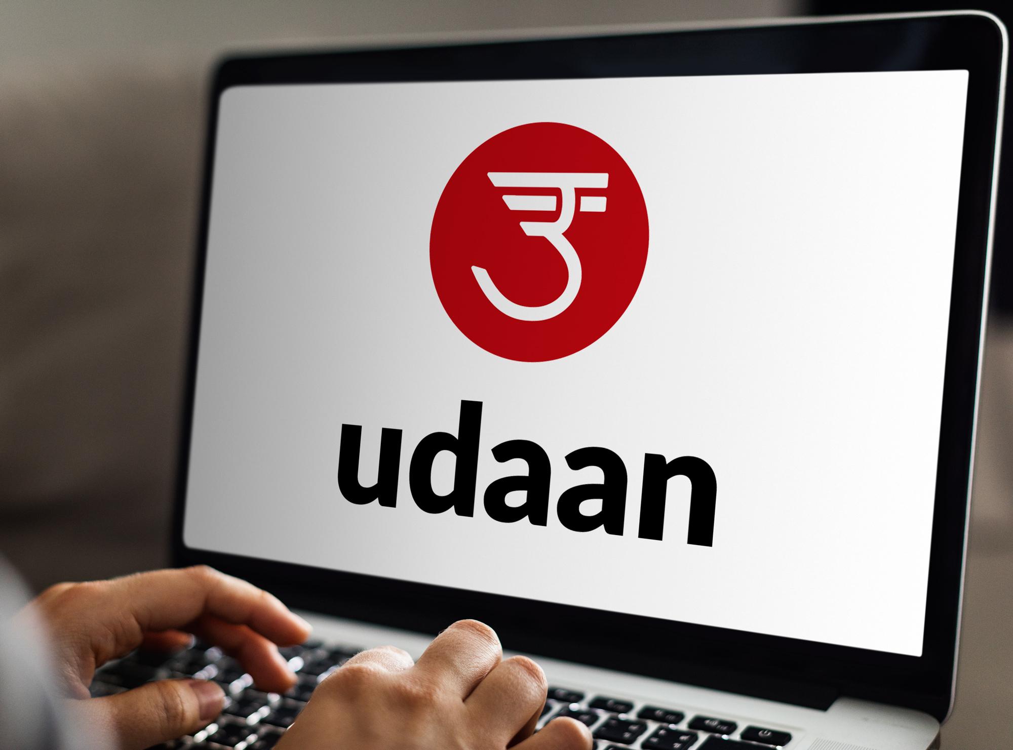 Uddan logo on laptop screen