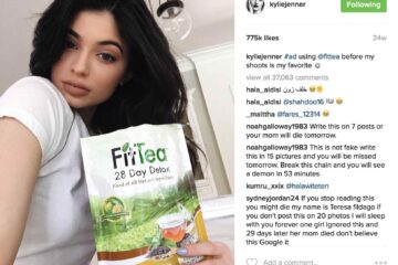 Kylie Jenner doing a paid advertisement on social media / Image credits : Gettyimages