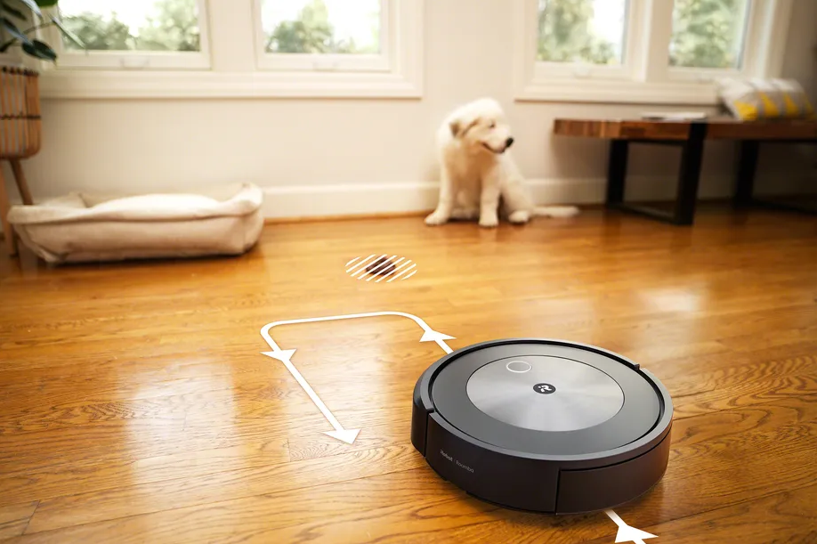 The dog poop avoiding feature is only available on the new Roomba j7+. Image: iRobot
